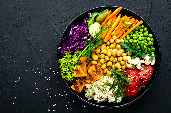South Asian style Chickpea Bowls